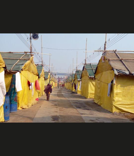 Des camps pour accueillir lespèlerins