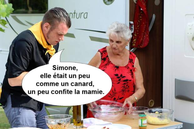 """Norbert à propos de Simone, son commis au camping: """"Elle était un peu comme un canard, un peu confite la mamie"""""""