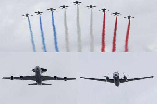 Le défilé aérien