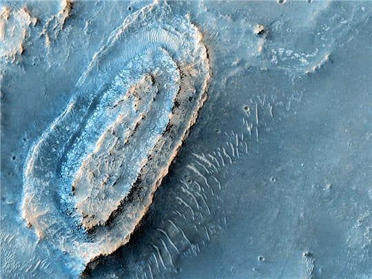 Lieu idéal pour explorer le sol martien