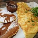 Palm Café  - brunch avec pancakes, omelette, brownie -