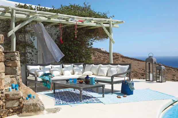 Des tapis pour sublimer la terrasse - Grand tapis d exterieur pour terrasse ...