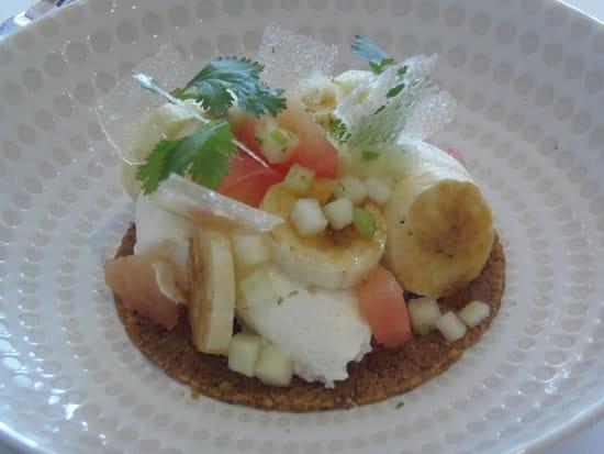 La Table d'Hôtes  - Sablé banane,rhum pomelos -