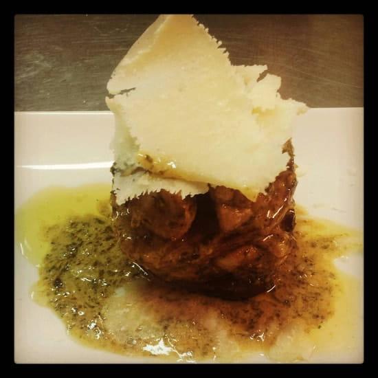 Restaurant : La Cookinière  - Mille feuilles de beterave et ris d'agneau  -