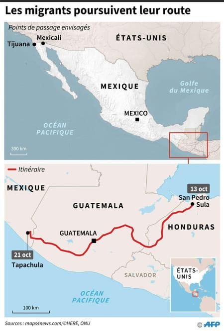 La caravane des migrants atteint 100 kilomètres parcourus au Mexique 10963749