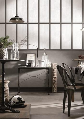 un papier peint effet verri re. Black Bedroom Furniture Sets. Home Design Ideas