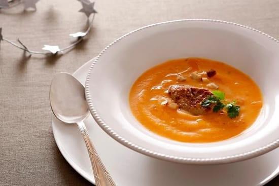 La Voute  - Soupe de potiron au foi gras -