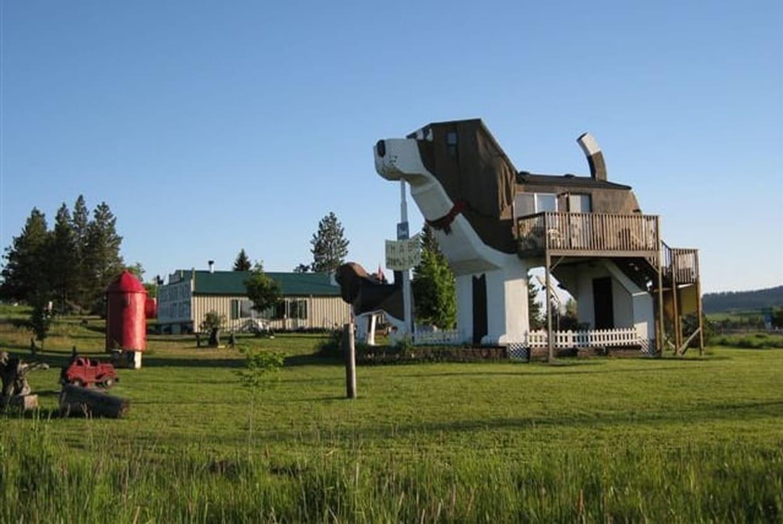 une maison en forme de chien dans l 39 idaho etats unis. Black Bedroom Furniture Sets. Home Design Ideas