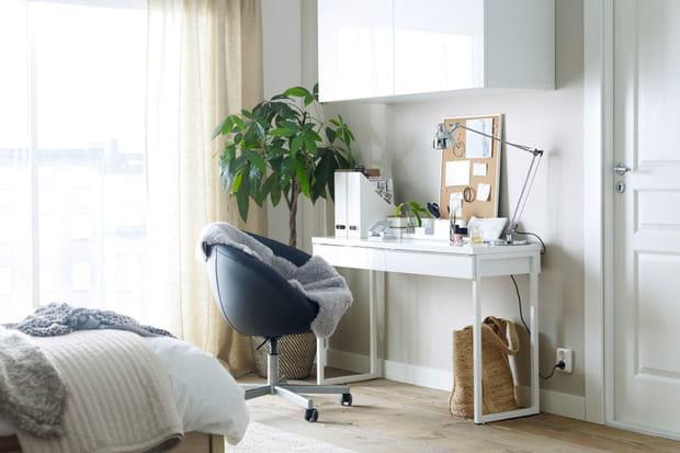 Meuble haut bureau bureau en verre homeo textiles
