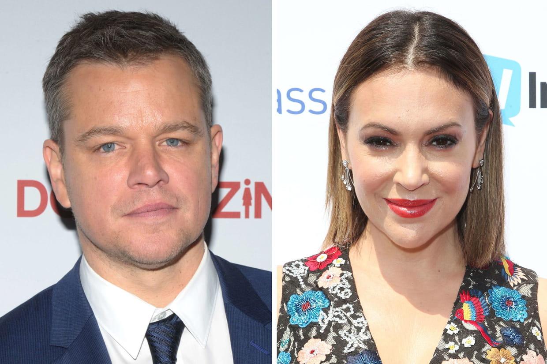 Alyssa Milano s'en prend à Matt Damon sur le harcèlement sexuel