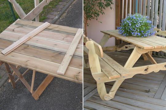 Réaliser soi-même une table de jardin