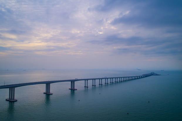 EN IMAGES - Découvrez le plus long pont maritime au monde