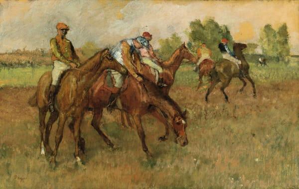Edgar Degas - Avant la course
