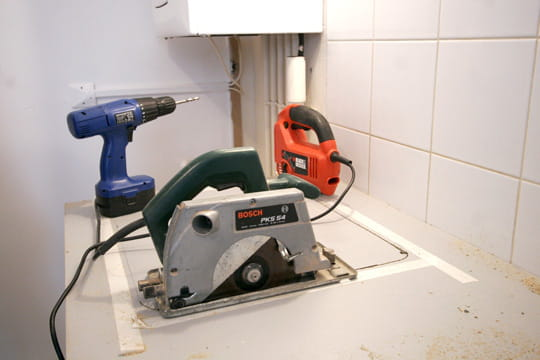 Percer le plan de travail - Monter une cuisine ikea ...