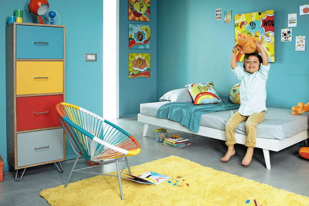 Une chambre d 39 enfant color e for Chambre enfant coloree