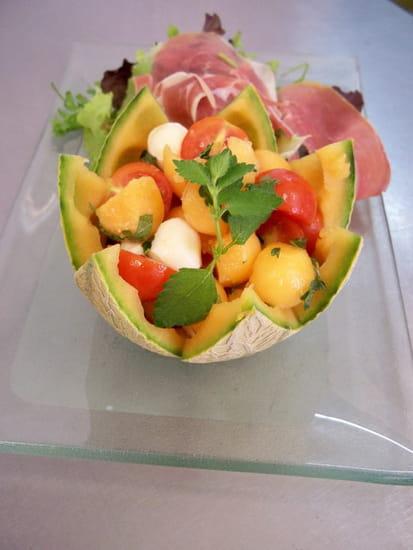 Aux Deux Chefs  - Melon surprise parfumé à la mélisse -
