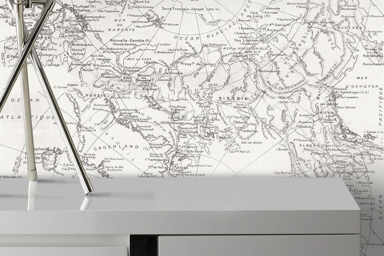 un papier peint planisph re. Black Bedroom Furniture Sets. Home Design Ideas