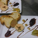Entrée : Auberge du Petit Lac  - Duo de foie gras maison -