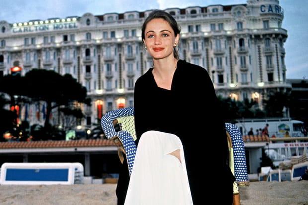 Emmanuelle Béart à Cannes en 1991