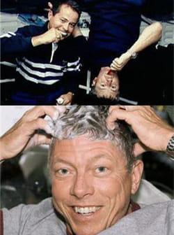 les astronautes utilisent un shampoing spécial pour se laver les cheveux.