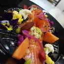 Plat : La Cuisine Du Dimanche  - Gracias de truite et légumes Pickles -   © Moi