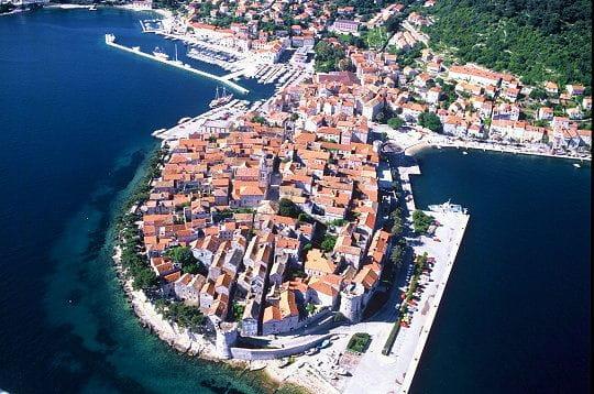 Korcula, sur une île de la mer Adriatique