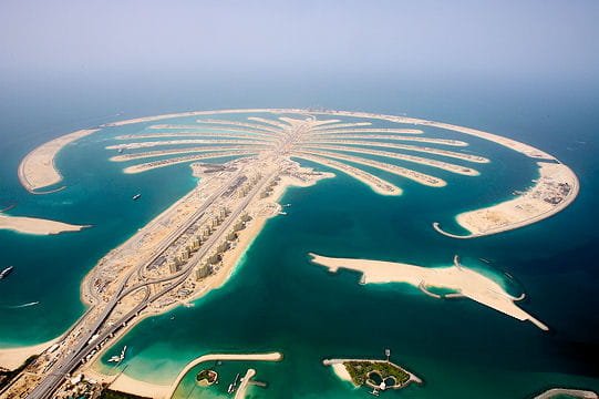 L'ile artificielle The Palm Jumeirah à Dubai
