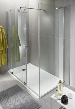 Douche à l'italien avec receveur