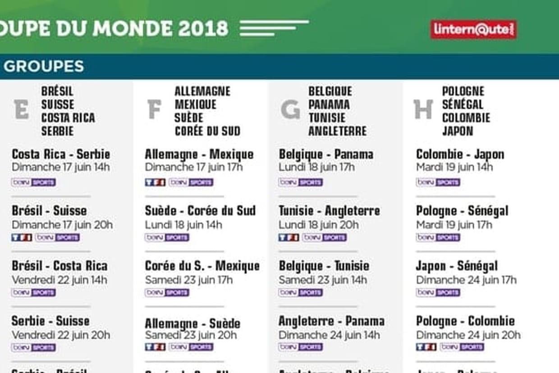 Calendrier coupe du monde quels matchs au programme ce - Coupe de monde handball calendrier ...