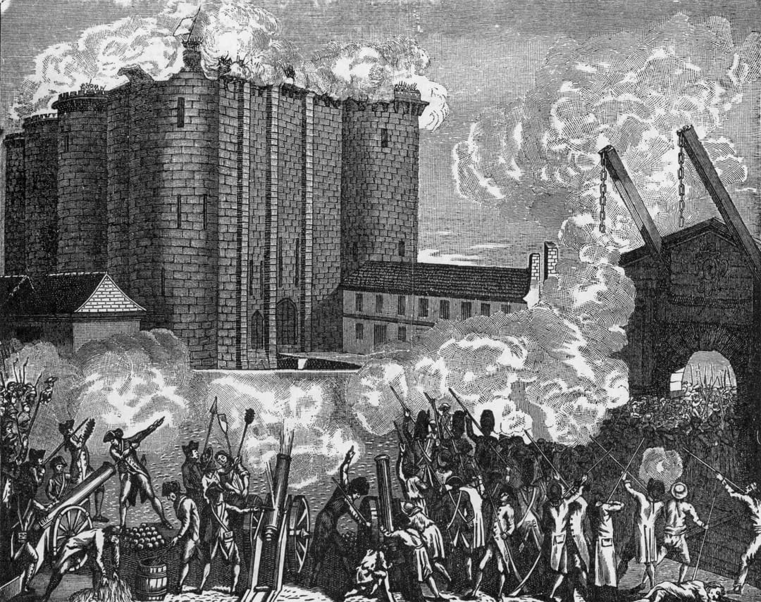 Prise De La Bastille Le 14 Juillet 1789 Devenu Jour De Fete Nationale