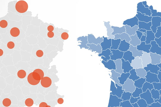 CARTE COVID. Cartes de France du coronavirus, chiffres du 29octobre 2020