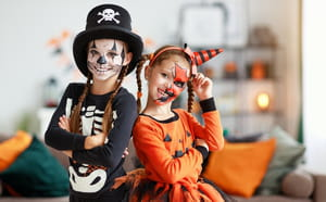 Maquillage d'Halloween simple pour enfant