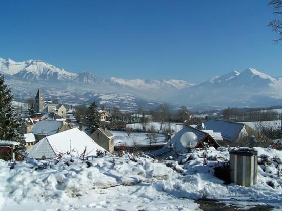 Laiterie du Col Bayard  - la vue panoramique en hiver -