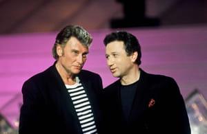 Michel Drucker et Johnny Hallyday