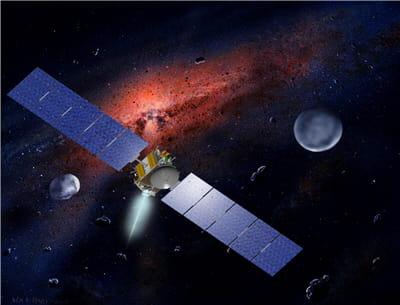 cérès et vesta sont deux astéroïdes faisant l'objet d'étude de la mission dawn.