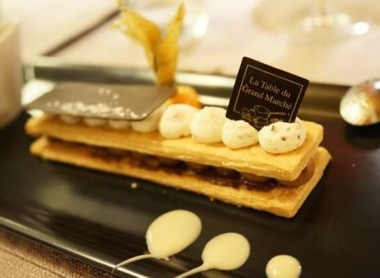 La Table du Grand Marché  - Millefeuille chocolat -