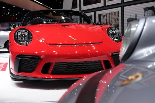 Le 911Speedster Concept aux côtés d'anciens speedsters
