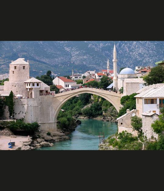 Le Stari Most de Mostar en Bosnie-Herzégovine
