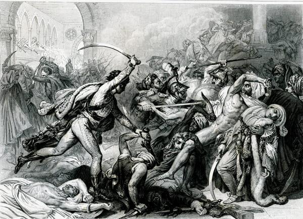 La Révolte du Caire sous Bonaparte, le 21 Octobre 1798 d'après une gravure