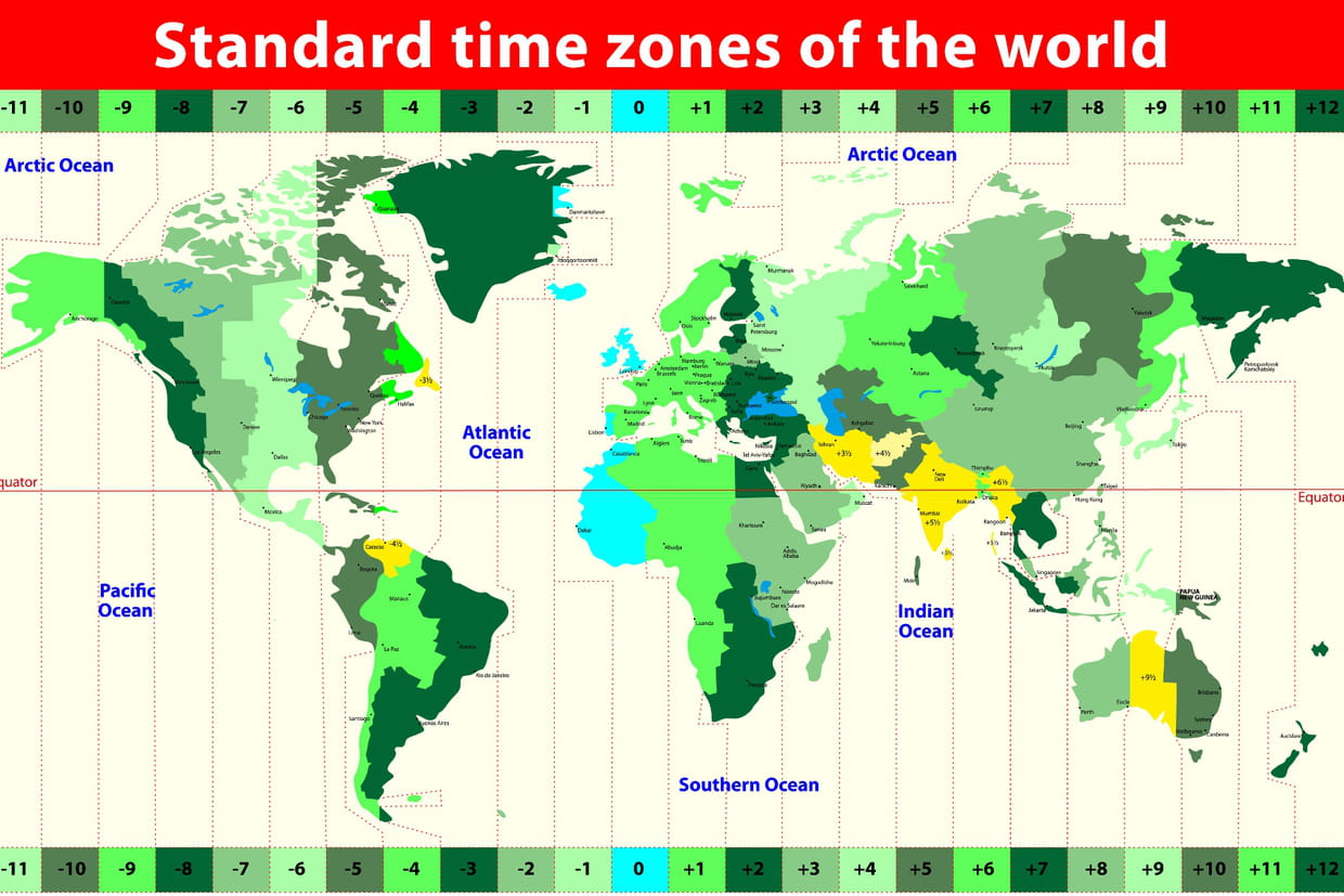 Whole Map Of The World.Time Zone Map Of The Whole World Printable Pdf
