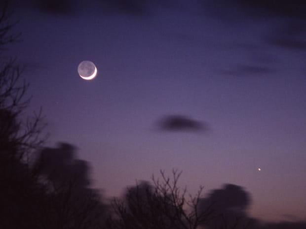 Conjonction Lune-Mercure