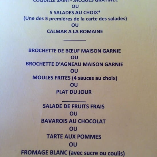 Restaurant : La Provençale  - Menu a 13€30 -