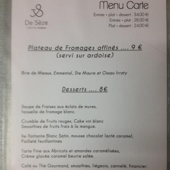 Dessert : Le Comptoir de Sèze  - Dessert  -