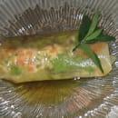 Auberge de Bel Air  - rouleau de printemps, saumon et magret fumé -   © yvéric