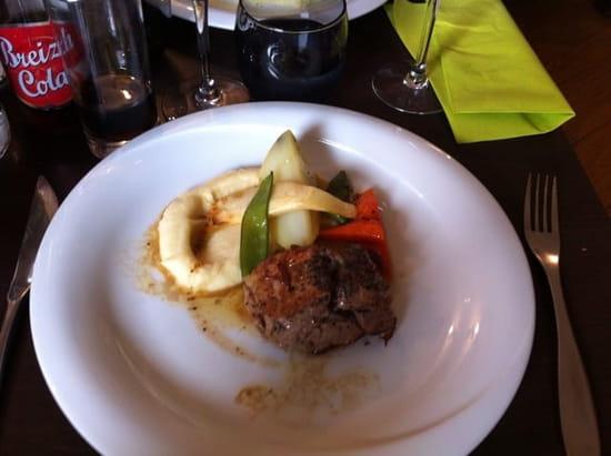 Plat : L'Onde Verte  - Filet de veau au beurre de truffe  -