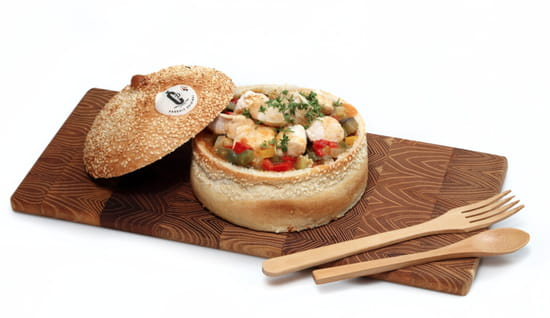 Plat : Restaurant Paincocotte  - Fricassée de volaille aux légumes et mélange de céréales, jus aux épices douces -   © oui