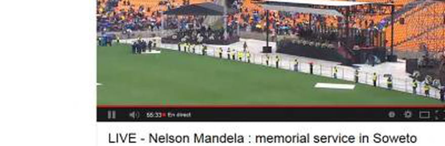 Mandela : le direct de la cérémonie d'hommage [VIDEO]