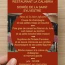 La Calabria  - menu jour de l'an -