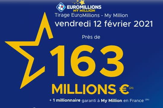 Résultat de l'Euromillions (FDJ): le tirage du vendredi 12février 2021[EN LIGNE]