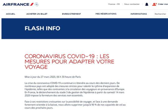 Air France: liste des vols de rapatriement en mars, comment se faire rembourser son vol?